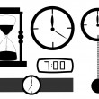 Foto Stock: Clocks