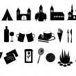 Stock Photo: Touristic icons