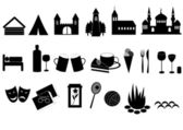 Touristic icons — Stock Photo