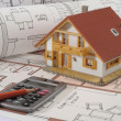 House building plan - Foto Stock