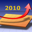 Business graph 2010 — Stock Photo