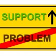 Stock Photo: Problem Support