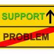 Problem Support — Stock Photo
