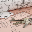 Stock Photo: House building plan