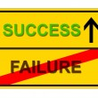 Stock Photo: FAILURE SUCCESS