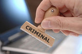 Criminal — Stock Photo
