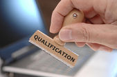 Qualification — Stock Photo