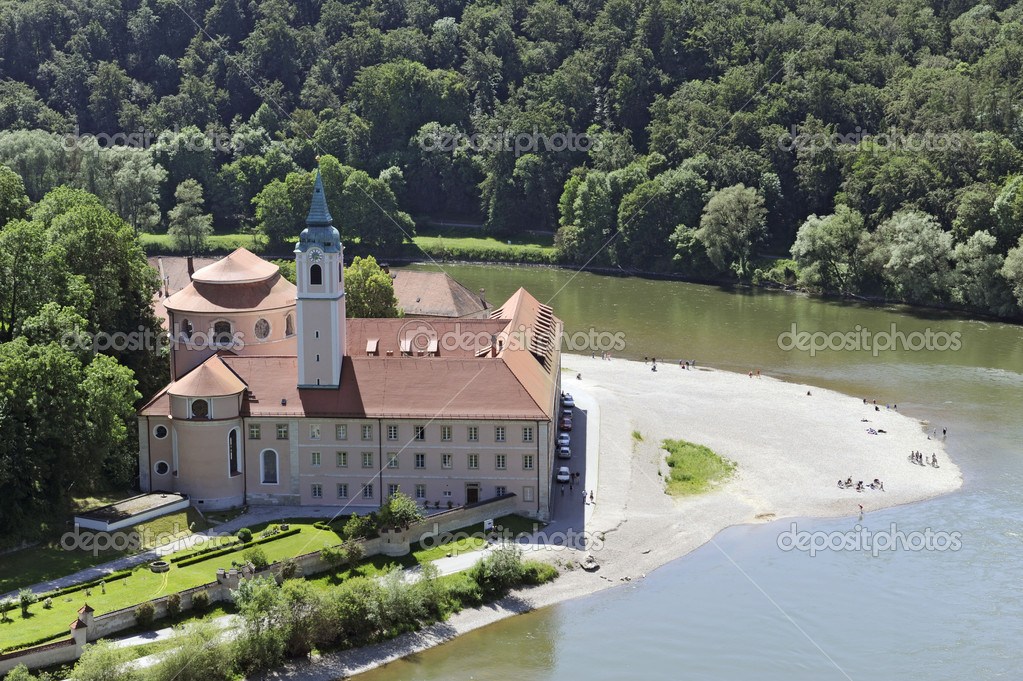andmark abbey Weltenburg in Germany at river danube — Stock Photo #2373597