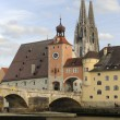 Stock Photo: Regensburg bridge