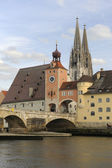 Regensburg bridge — Stock Photo