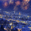 New year fireworks - Foto Stock
