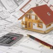 House building plan - Stock Photo