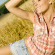 Beautiful country girl — ストック写真