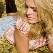 Beautiful country girl — Foto de Stock