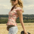 Beautiful country girl - Stock Photo