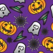 Stock Vector: Seamless vector halloween background