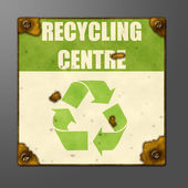 Recycling center sign — Stock Photo