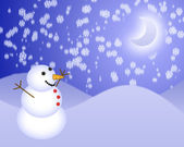 Christmas snowman illustration — Stock Photo