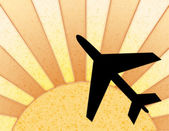 Sunny Background With Plane — Stock Photo