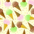Royalty-Free Stock Vector Image: Seamless Ice Cream Pattern