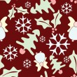 Royalty-Free Stock Vector Image: Seamless Vector Christmas Pattern