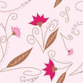Pink seamless flower design — Stock Vector