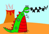 Cartoon Vector Dinosaur — Stock Vector