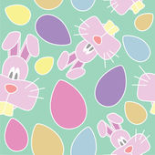 Seamless Vector Easter Pattern — Stock Vector