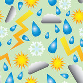 Seamless Vector Weather Pattern — Stock Vector