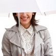 Smiling girl and umbrella — Stock Photo