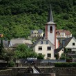 Stock Photo: At Rhine river. Kestert city