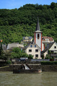 At the Rhine river. Kestert city — Stock Photo