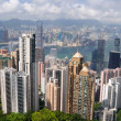 Hong Kong skyscrapers - Stock Photo