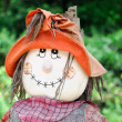 Smiling fall scarecrow face — Stock Photo