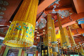Inside thai temple — Stock Photo