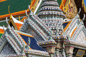 Detail of roofs at Grand palace — Stock Photo