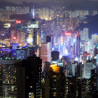 Hong Kong at the night — Stockfoto