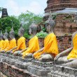 budha statues in ayutthaya — Stock Photo