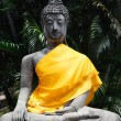 Buddha statues with orange bands — Stock Photo #2249110