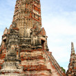 Ruined wat in old Siam Kingdom — Stock Photo