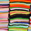 Coloured fabrics — Stockfoto