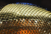 Singapore esplanade theater at night — Stock Photo