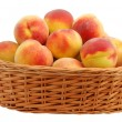 Stock Photo: Peach in basket