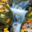 Beautiful autumn waterfall — Stock Photo