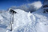 Paisaje de invierno blanco — Foto de Stock