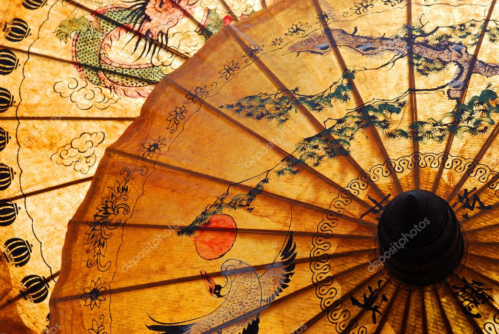 Detail of sunshade with Thai ornament — Lizenzfreies Foto #2307363