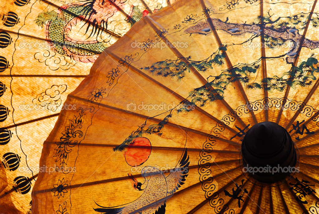 Detail of sunshade with Thai ornament — Stock Photo #2307363