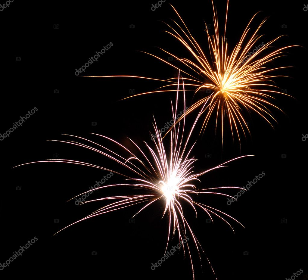 Fireworks sparkler taken on silvester New Year — Stock Photo #2309752
