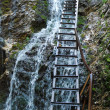 Stock Photo: Running water and ladder
