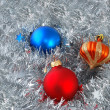 Christmas balls decorations — Foto Stock